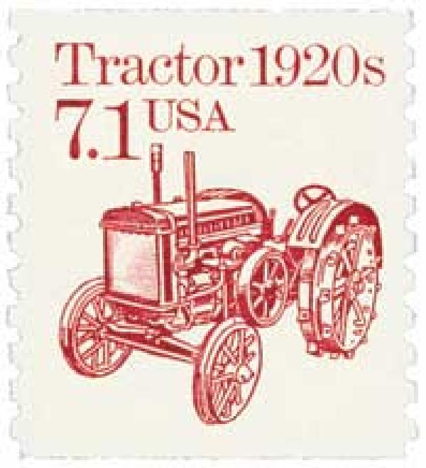 U.S. #2127 – The first tanks were in part inspired by tractors.
