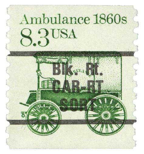 1987 8.3c Ambulance, precancel, coil