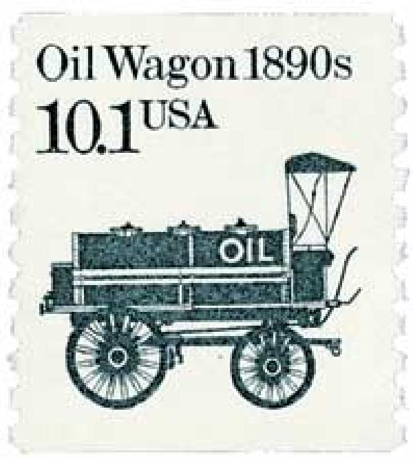 1985 10.1c Transportation Series: Oil Wagon, 1890s