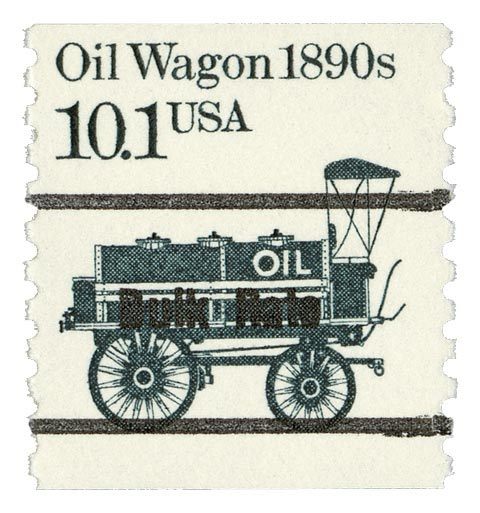 1985 10.1c Oil Wagon, precancel, coil