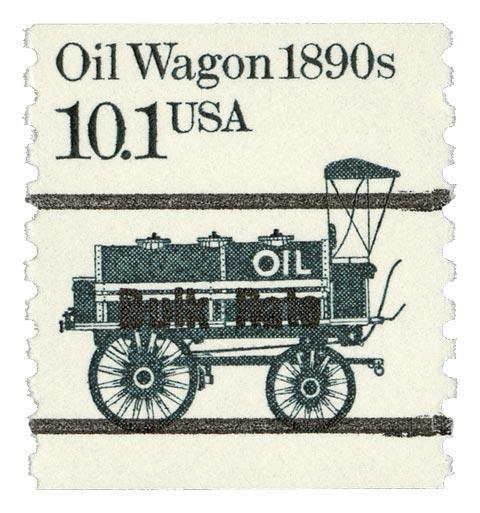 1985 10.1c Oil Wagon, precancel, coil