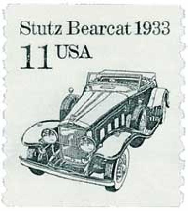 1985 11c Transportation Series: Stutz Bearcar, 1933