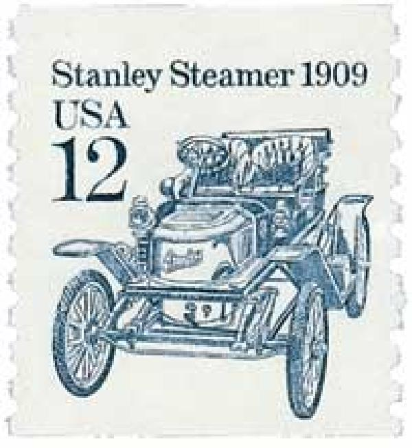1985 12c Transportation Series: Stanley Steamer, 1909
