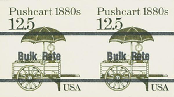 1987 12.5c Pushcart,Imp. pr/free