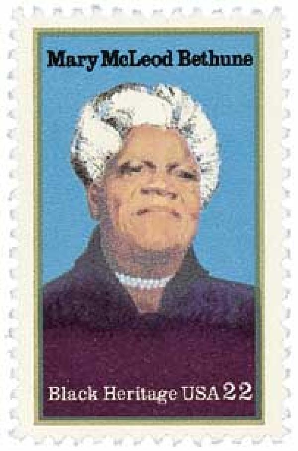 1985 22c Black Heritage: Mary McLeod Bethune