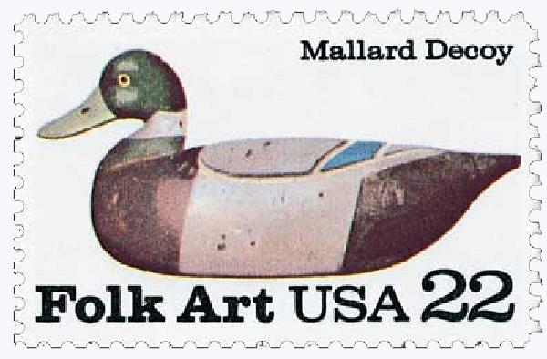 1985 22c Mallard