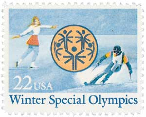 1985 22c Winter Special Olympics