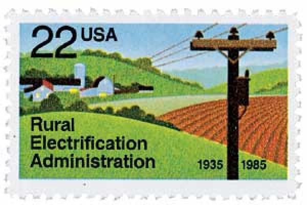 1985 22c Rural Electrification Administration