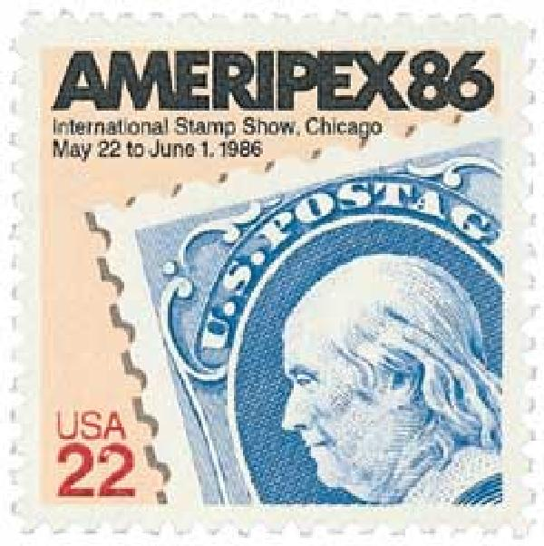 1985 22c Ameripex '86