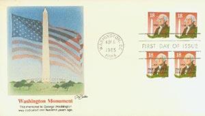 1985 18c George Washington and Monument, precancel