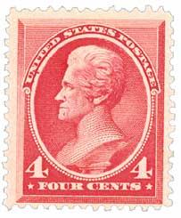 1888 4c Andrew Jackson, carmine