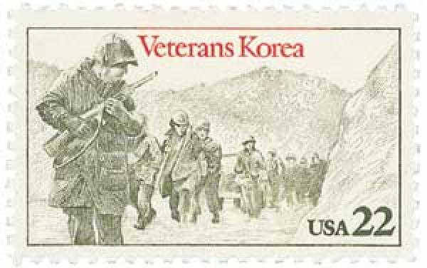 1985 22c Korean War Veterans