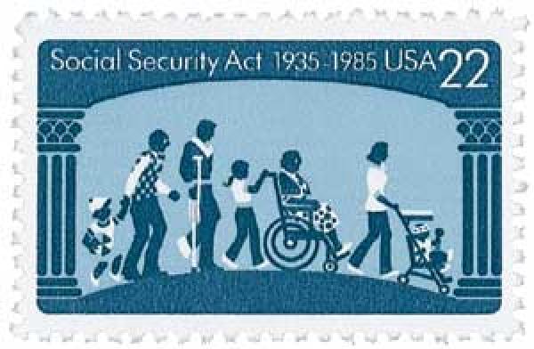1985 Social Security stamp