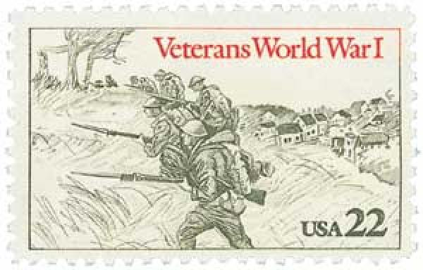 1985 22c World War I Veterans