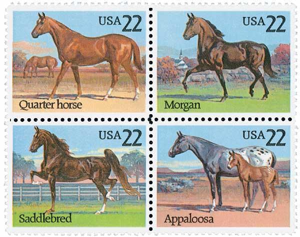 1985 22c Horses