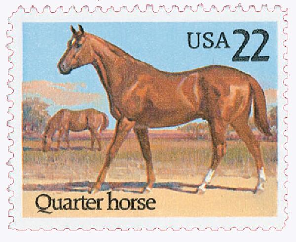 1985 22c Horses: Quarter Horse