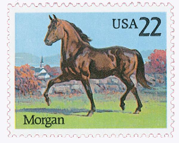 1985 22c Horses: Morgan
