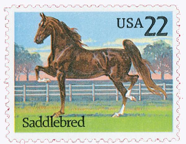 1985 22c Horses: Saddlebred