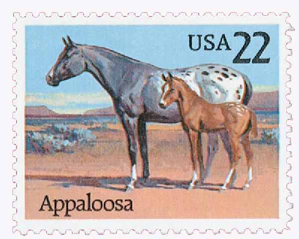 1985 22c Horses: Appaloosa