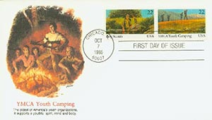 1985 22c Scouts/YMCA Pair First Day Cover