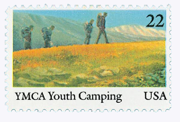 1985 22c YMCA Youth Camping Centenary