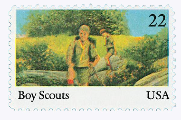 1985 22c International Youth Year: Boy Scouts