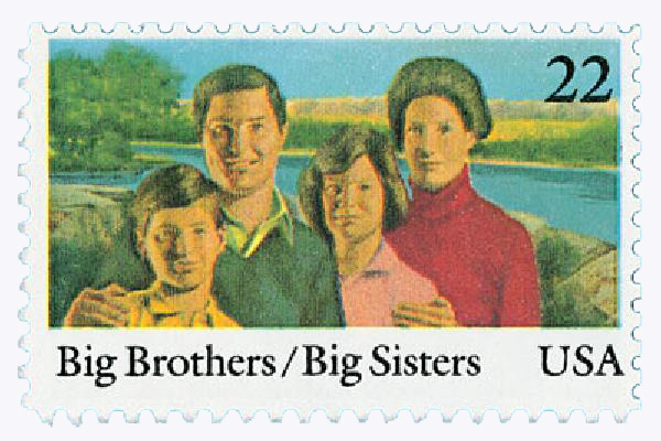 1985 22c International Youth Year: Big Brothers/Big Sisters