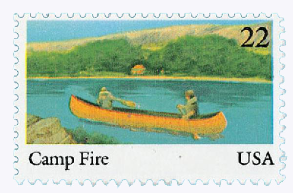 1985 22c International Youth Year: Camp Fire, Inc.
