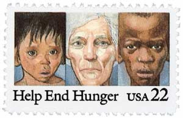 1985 22c Help End Hunger