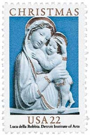 1985 22c Traditional Christmas: Madonna and Child Statue