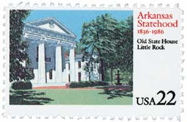 1986 22c Arkansas Statehood