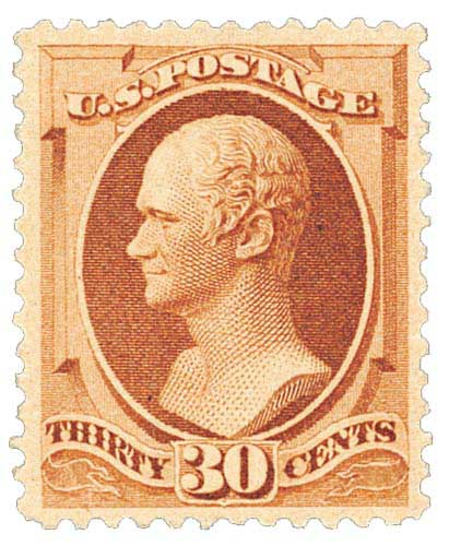 1888 30c Hamilton, orange brown