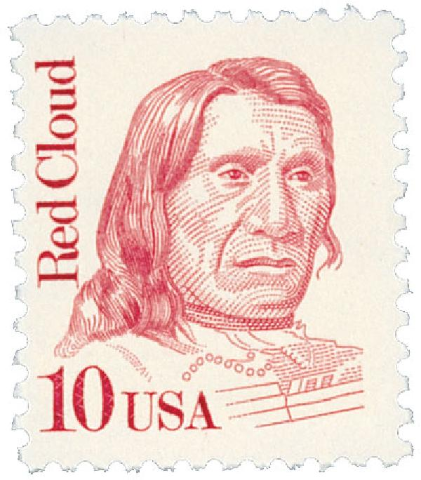 1987 10c Great Americans: Red Cloud