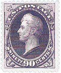1888 90c Perry, purple