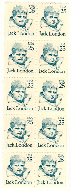 1988 25c J.London Bklt Pane/10