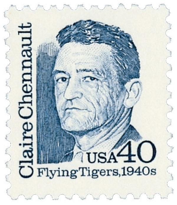 US #2187 was issued on Chennault's 100th birthday.