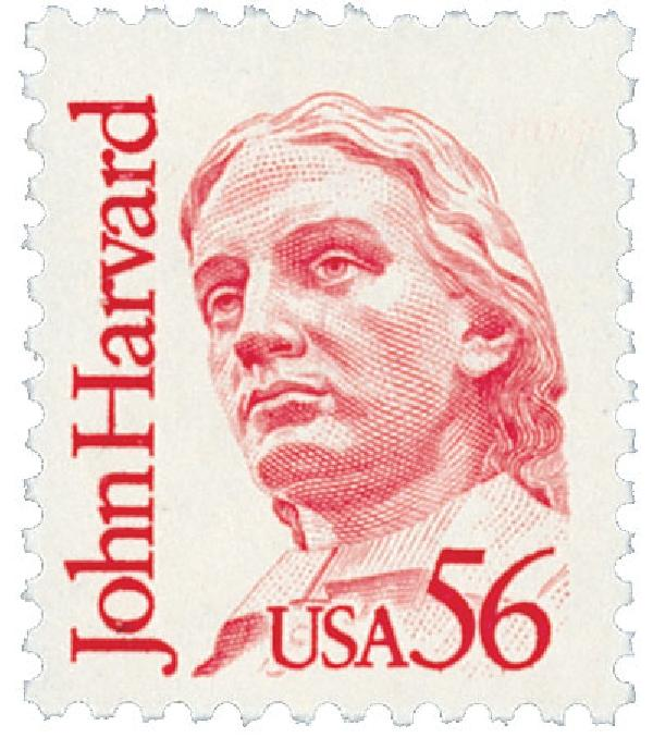 1986 56¢ Great Americans: John Harvard