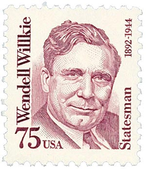 1992 75c Great Americans: Wendell Willkie