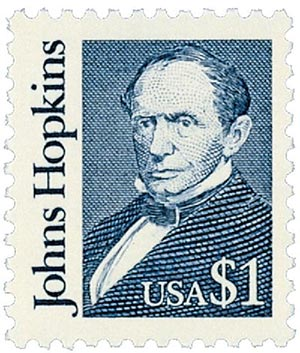 1989 $1 Great Americans: Johns Hopkins