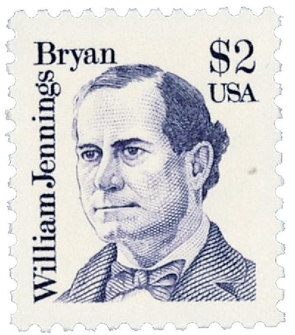 1986 $2 Great Americans: William Jennings Bryan
