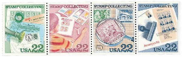 1986 22c Stamp Collecting