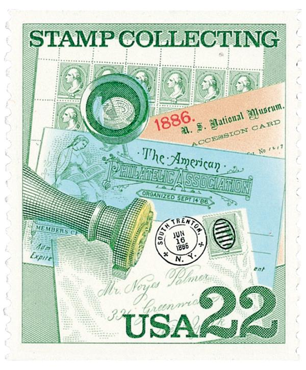 1986 22c Stamp Collecting: Handstamped Cover