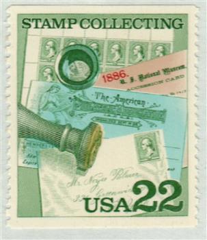 1986 22c Handstamped cover missing color