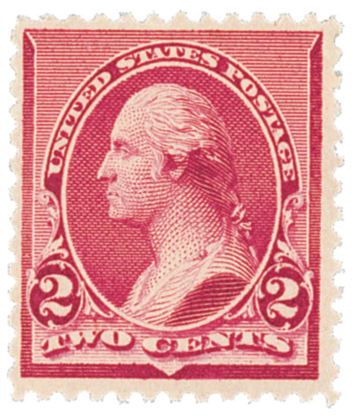 1890 2c Washington, carmine