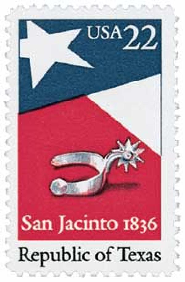 U.S. #2204 was issued for the 150th anniversary of the Republic of Texas.
