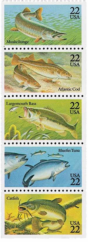1986 22c Fish