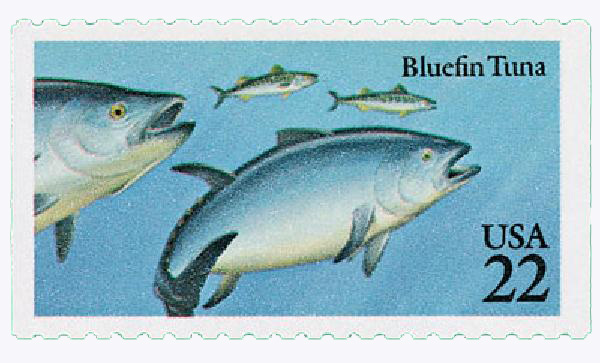 1986 22c Fish: Bluefin Tuna