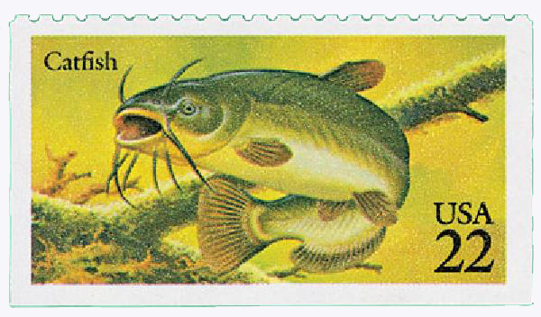 1986 22c Fish: Catfish
