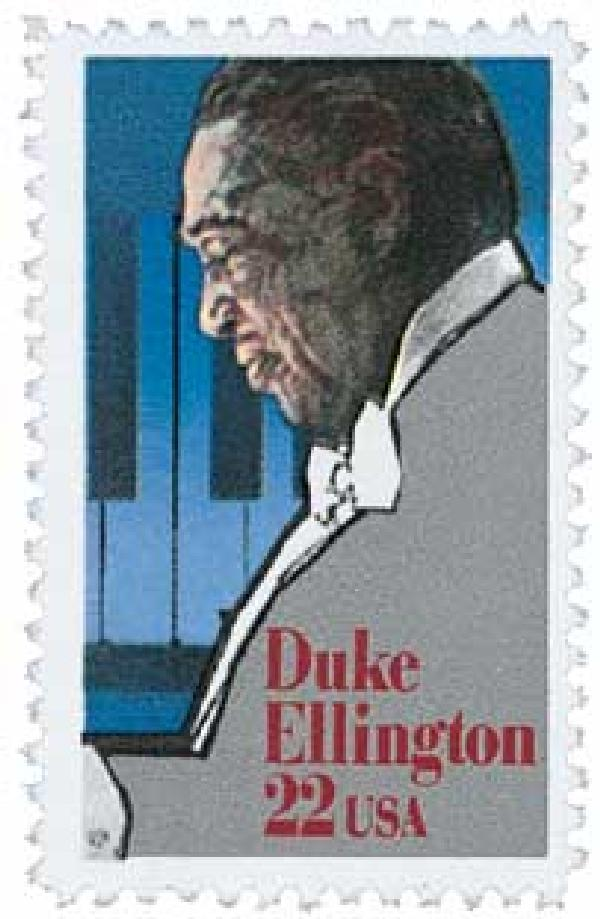 1986 22c Performing Arts: Duke Ellington