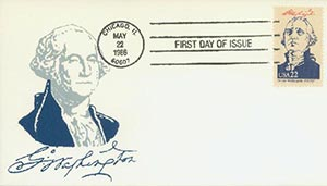 1986 22c Pres. Washington,single